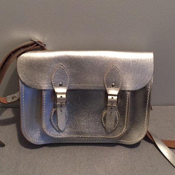 8323c145c The Cambridge Satchel Co. Silver Crossbody Bag. M 5ad925528290afe860fb5c68